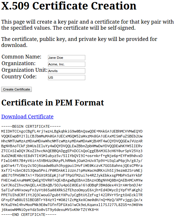 Creating x509 certificates with web crypto and pkijs charles i downloaded the certificate and used openssl to display its contents using openssl x509 in downloadedcert inform pem yadclub Gallery